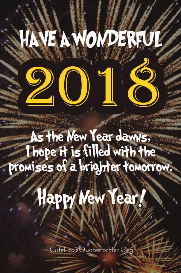 Wonderful New Year 2018 Quotes To Wish Family Friends