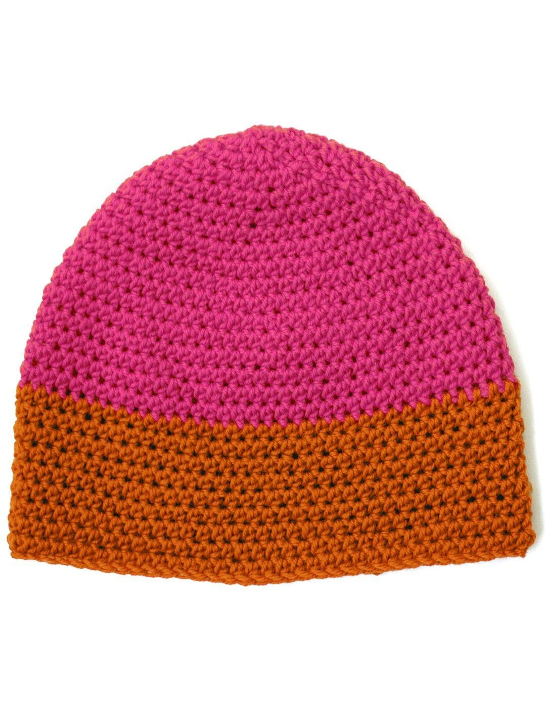 Yarnspirations.com - Patons Dipped Striped Crochet Hat - Free ...