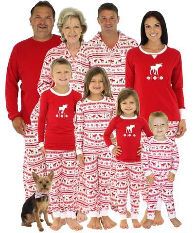 Family Matching Christmas Moose Pajamas | Holiday Pajamas ...