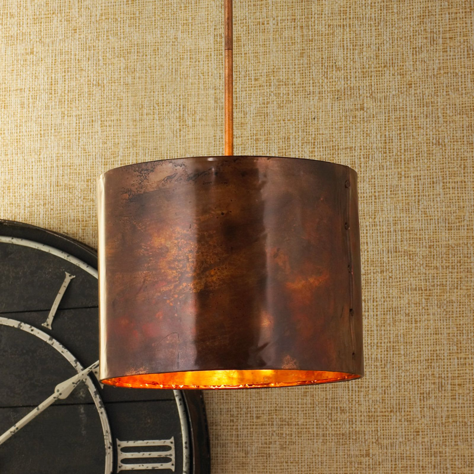 Hammered Copper Pendant