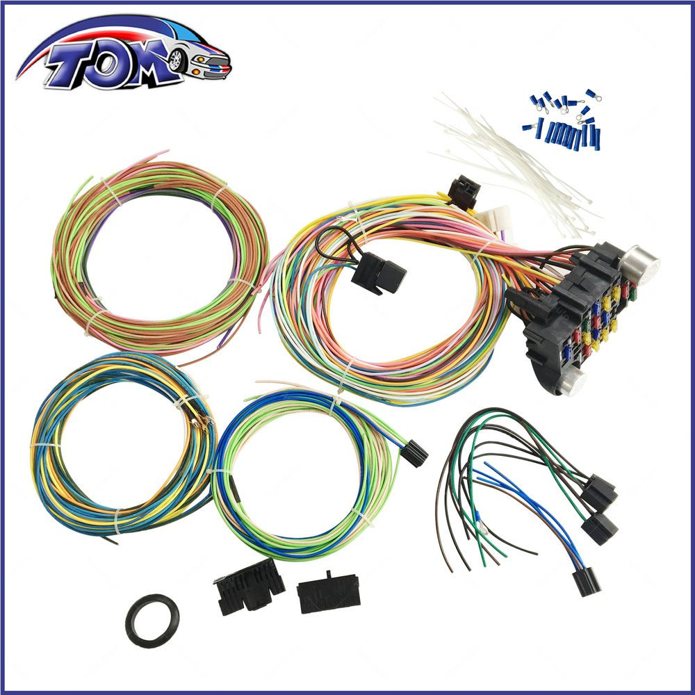 21 Circuit Wiring Harness Chevy Mopar Ford Hotrods Universal Extra Long Wires Mopar Circuit Ford