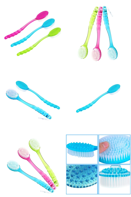Visit to buy long handled body bath shower back brush scrubber
