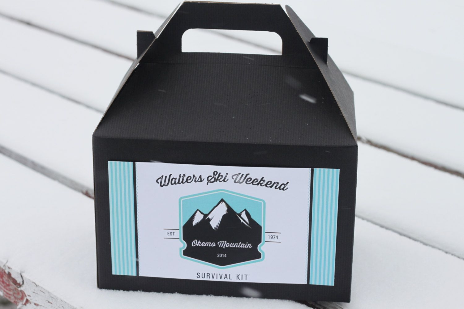 Set 10 Hotel Welcome Box Ski Weekend Survival Kit 30th 40th