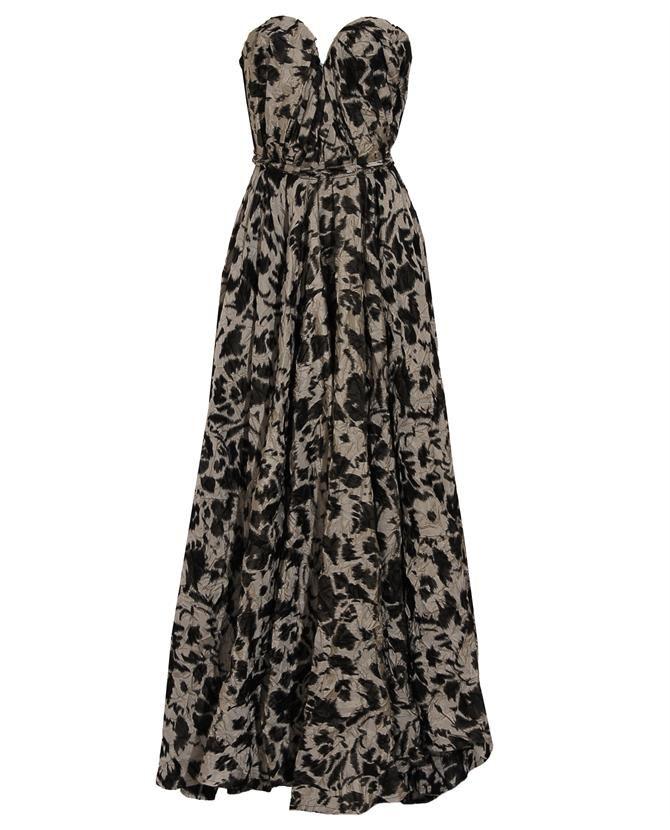 Lanvin Silk Bustier Gown