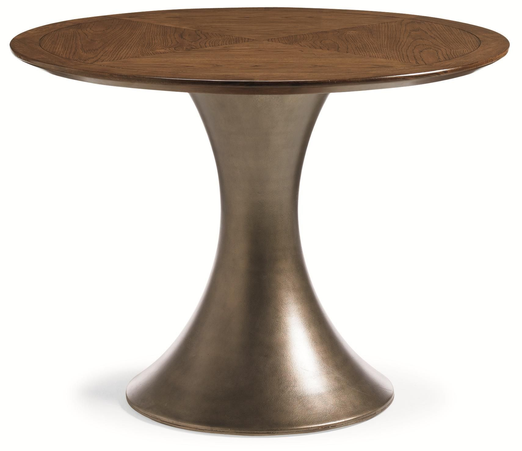 River run round metal pedestal dining table by schnadig for Wood coffee table kits
