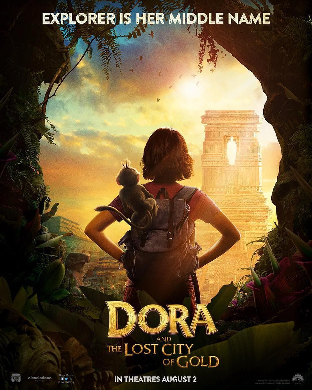Dora Poster Movies Movie Film Yabancifilm Nickelodeon Lost City Of Gold Gold Movie Action Movie Poster
