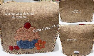 capa máquina de fazer pão | por Dona Galinha Patchwork