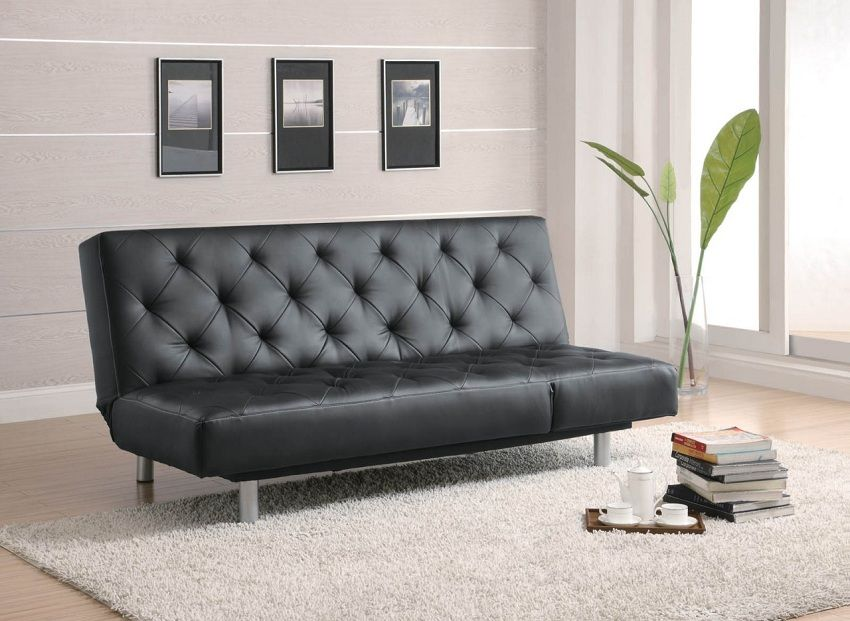 Coaster Sofa Beds And Futons Black Vinyl Tufted Bed Oversize Chaise Cancun Market Futon Dallas Fort Worth Irving Dfw North Texas