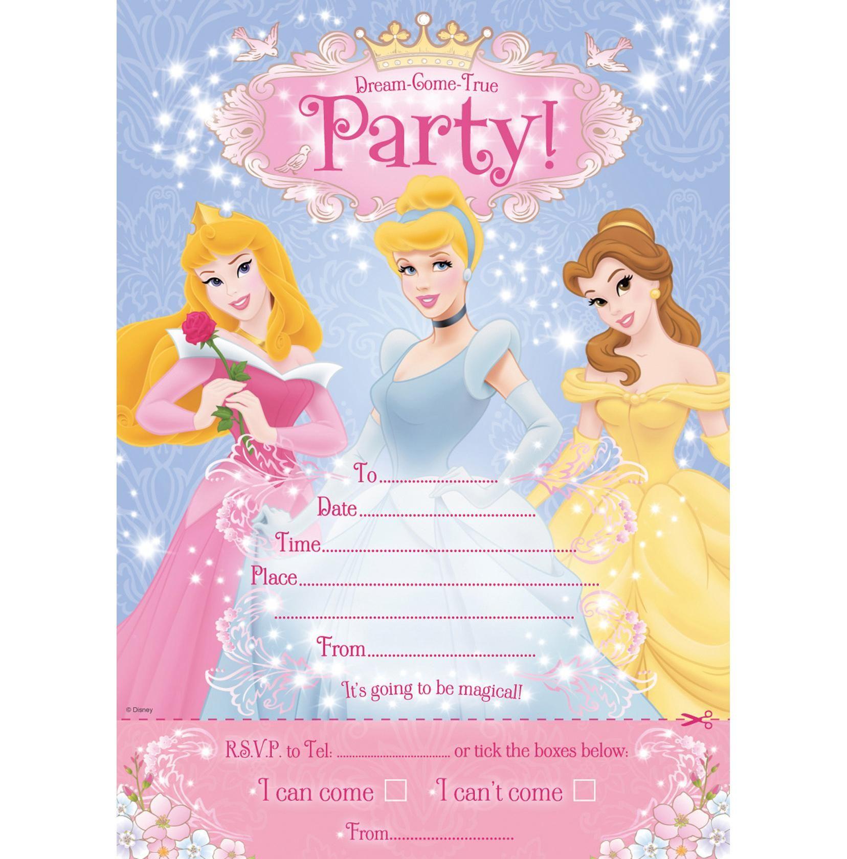 Shop Disney Princess Invitations Hallmark Greeting Cards And