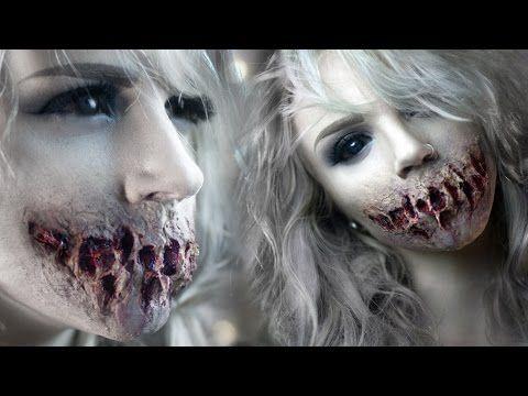 ▷ Speak No Evil - Zombie Mouth SFX Makeup Tutorial - YouTube   Oh ...