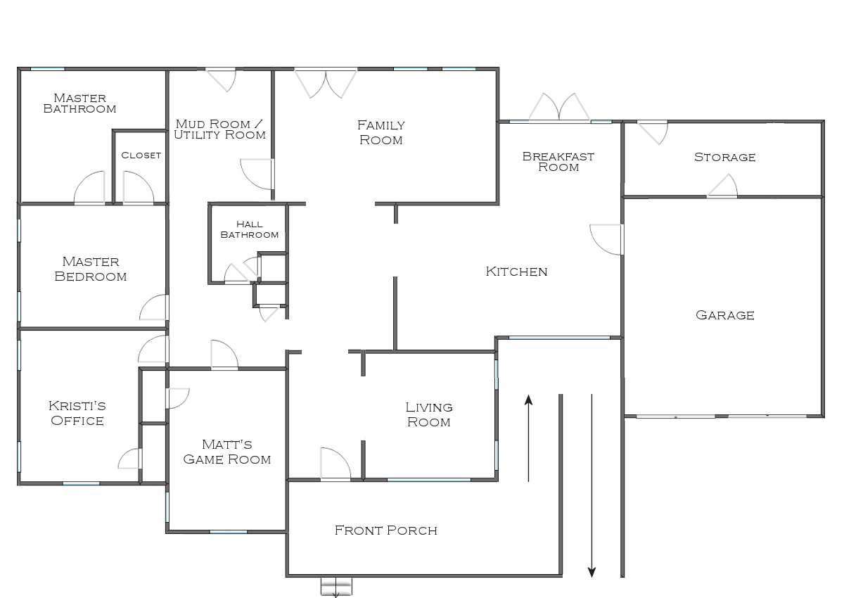 The Finalized House Floor Plan Plus Some Random Plans And Ideas Addicted 2 Decorating House Floor Plans House Flooring Metal Homes Floor Plans