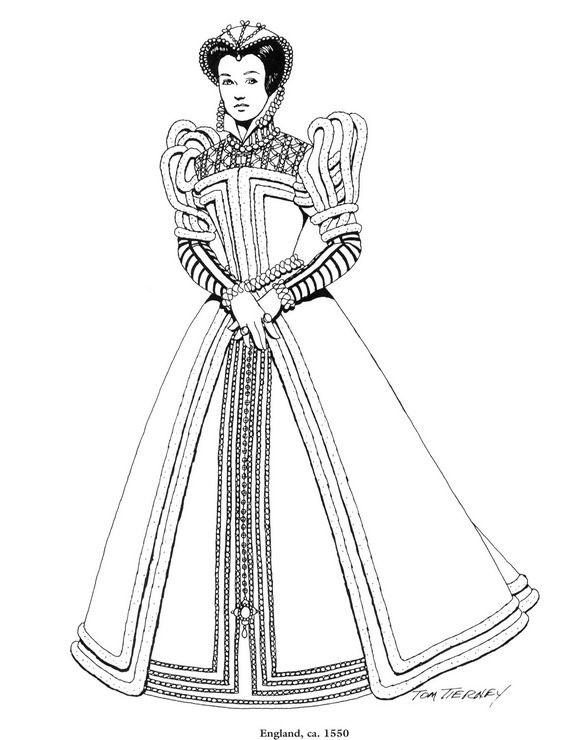 45 coloring pages of Clothing of the Renaissance on Kids-n-Fun.co ...