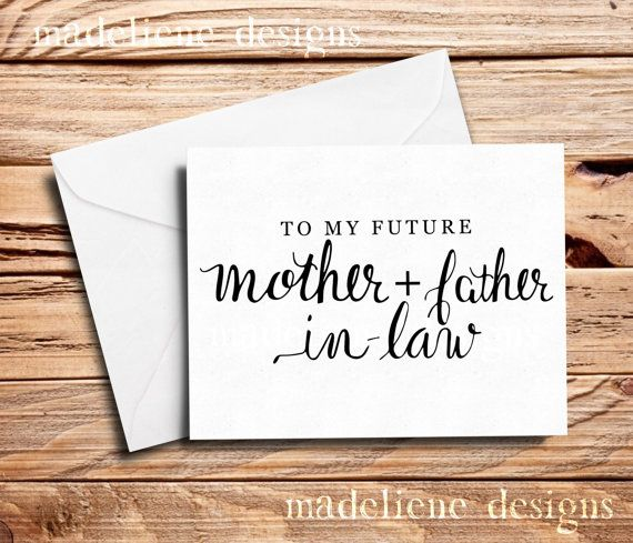 To My Future MotherFather In-Law Card  In-Law by MadelieneDesigns