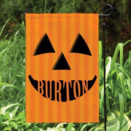 Personalized Jack O Lantern Yard Flag, Orange Flags, Walmart and