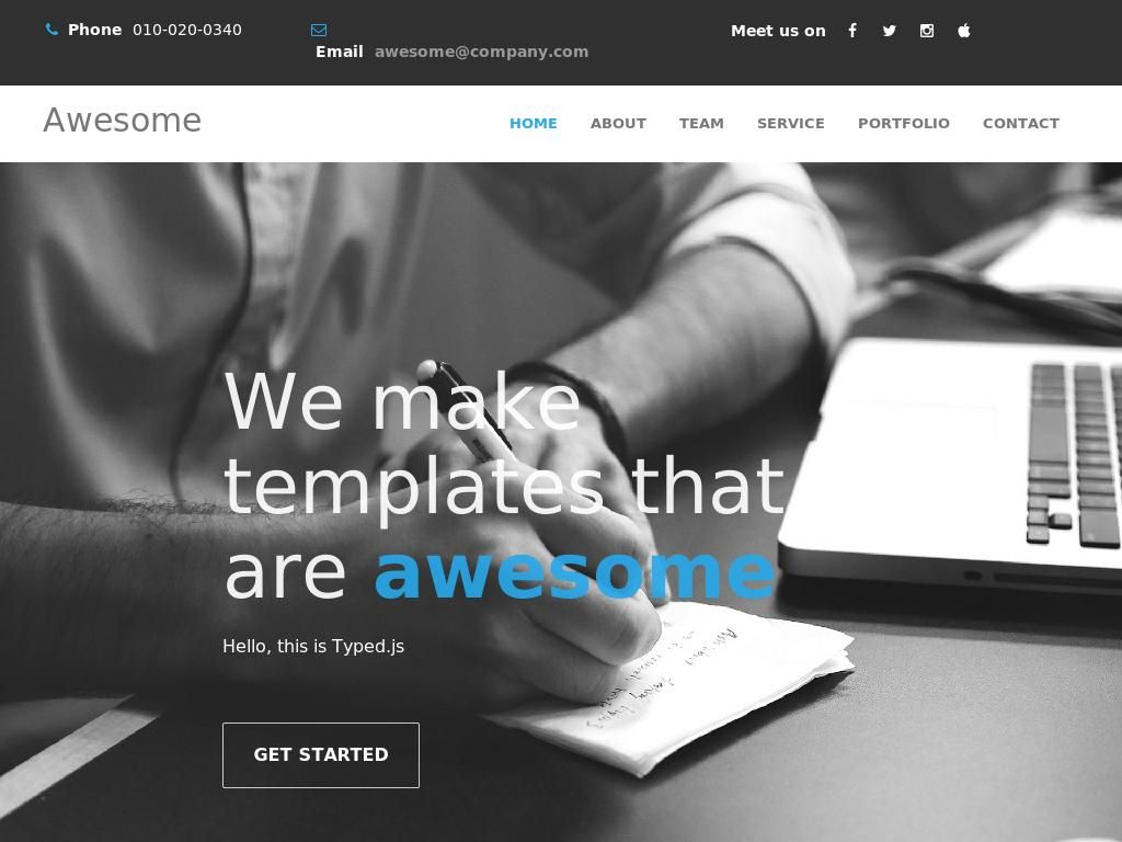 Responsive animation template Bootstrap 3 layout for portfolio you ...