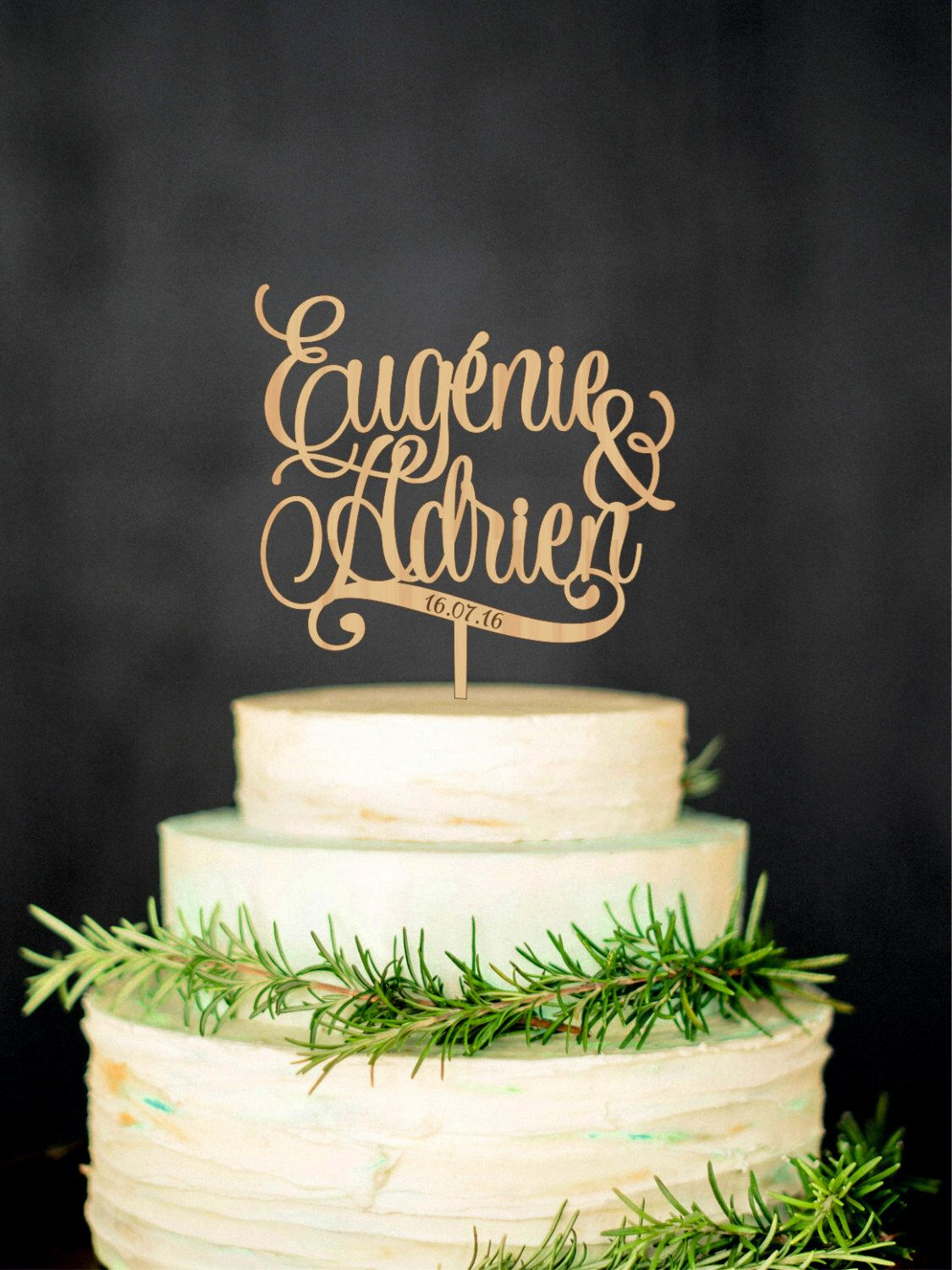 Personalized wedding cake topper with names and date custom cake wta wedding cake topper custom cake topper wood cake topper personalized names biocorpaavc Images