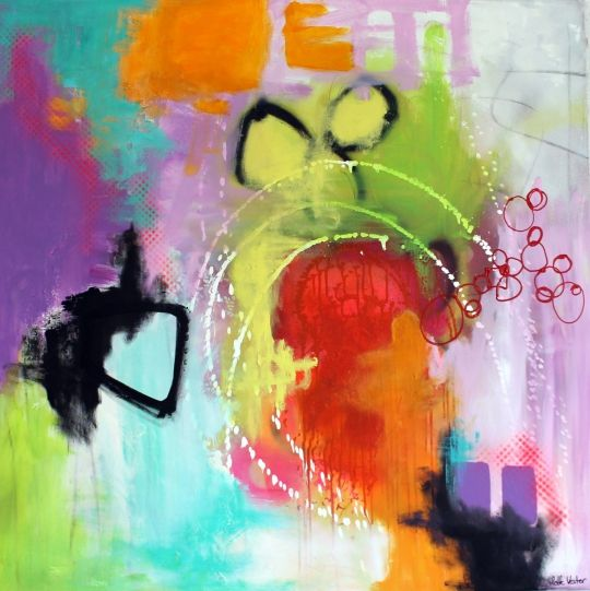 Lys Over Land Peinture Abstraite Abstrait Peinture