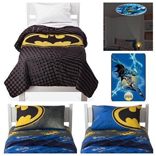 Batman Dark Knight Twin Comforter Sheets Plush Blanket Set With