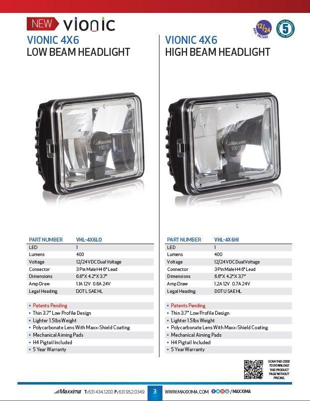 Vionic Low Beam u0026 High Beam Headlight  sc 1 st  Pinterest & Vionic Low Beam u0026 High Beam Headlight   Truck Lights   Pinterest