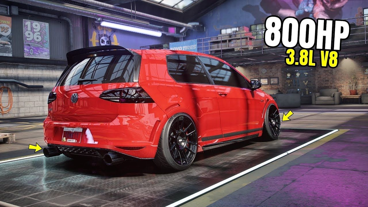 Need for Speed Heat Gameplay 800HP VOLKSWAGEN GOLF GTI