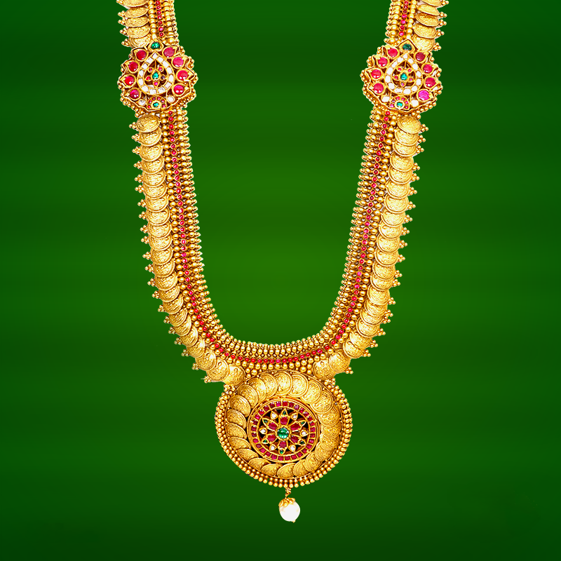 Gold Haram Designs from GRT | Gold, Indian jewelry and Diamond