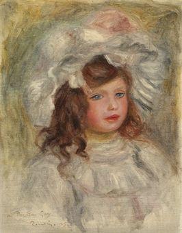 Jeune fille au chapeau (Tête de fillette) Auguste Renoir