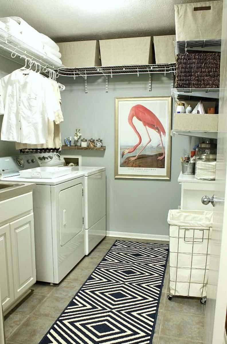 Functional Wire Shelves For Your House Laundry Room Design
