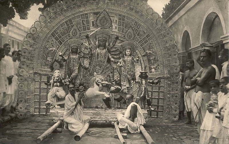 Durga Pujo Pandal, Eastern India (probably Bengal), late 19th century [800 x 505]