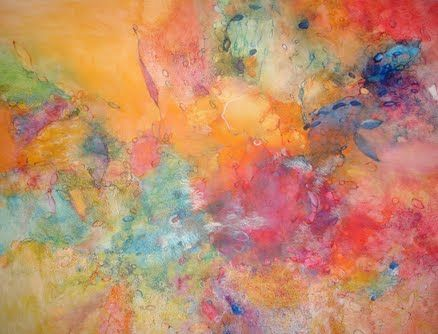 """""""Passion"""" original ink and varnish painting by Andrea Bertoni, £599 at Artfinder #painting #colour #art"""