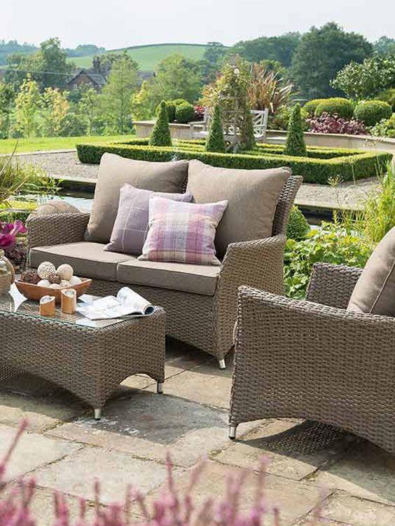 Great Braune Gartenm bel Loungem bel f r den Garten Hartman Loungeset Lotus in Coffee Braun gibt us