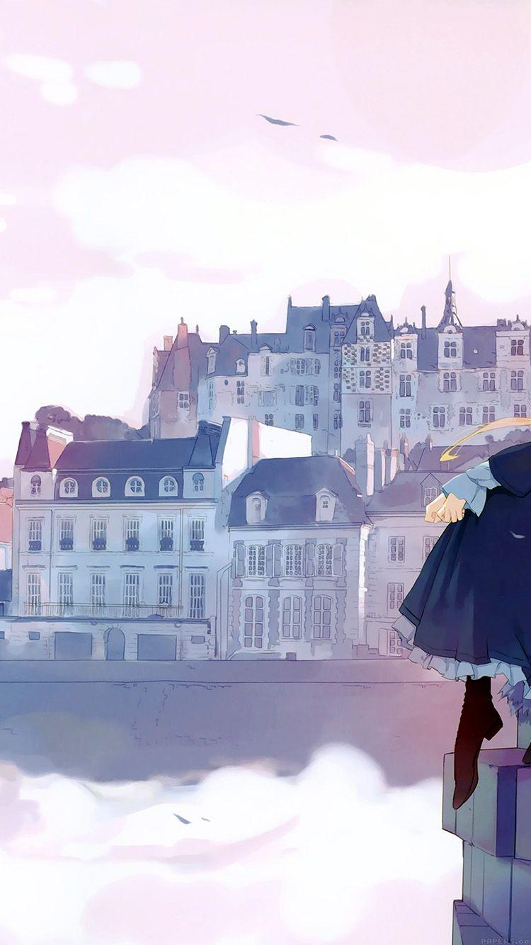 Aj45 Anime Thinking Girl Lake Illust Art Anime Scenery Anime Scenery Wallpaper Cool Anime Wallpapers