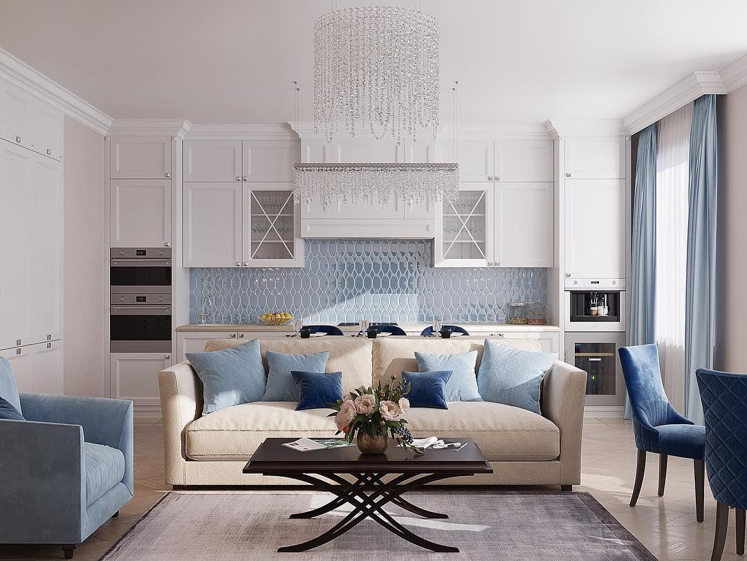 кухня неоклассика, белая кухня, стильная кухня   Домашняя ...
