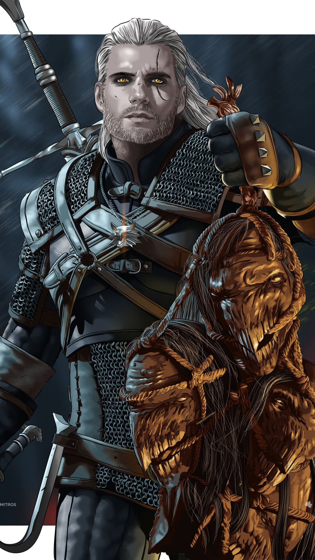 The Witcher 3 Plume De Monstre : witcher, plume, monstre, Witcher, Wallpapers, Phone, Background, Mobile, Geralt, Rivia,, Witcher,