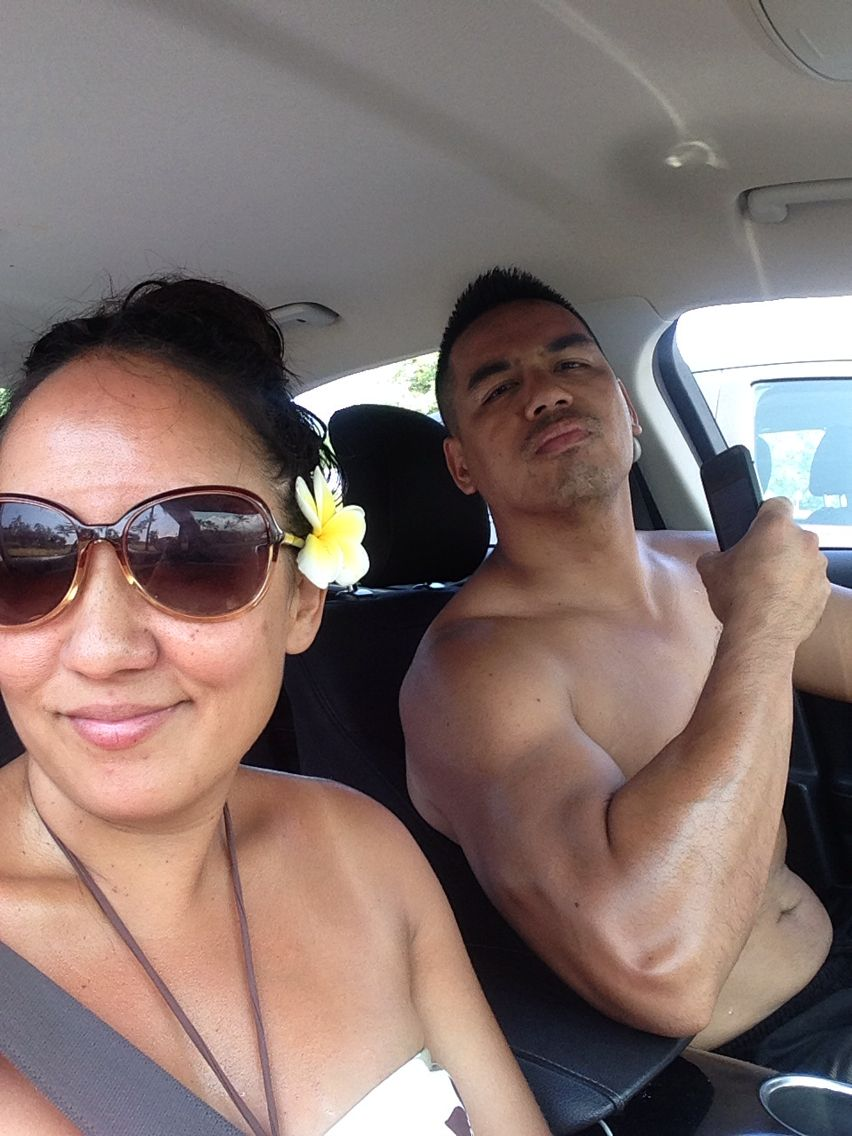 Dale and I after snorking at Honaunau Beach aka 2-step