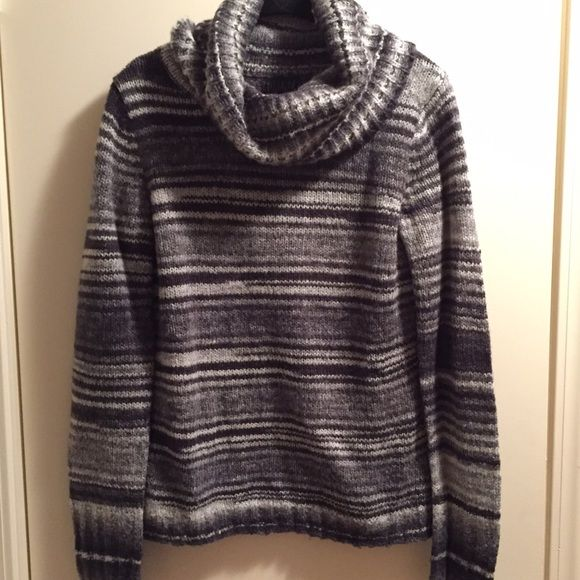Striped cowl neck sweater Wool/acrylic blend sweater by Forenza from The Limited. Excellent condition! The Limited Sweaters Cowl & Turtlenecks