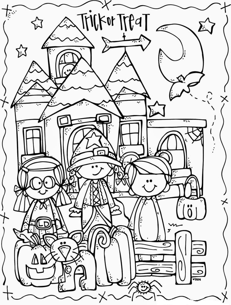 Pin von ~~ Halloween ~~ auf Coloring Pages | Pinterest | Ausmalen ...
