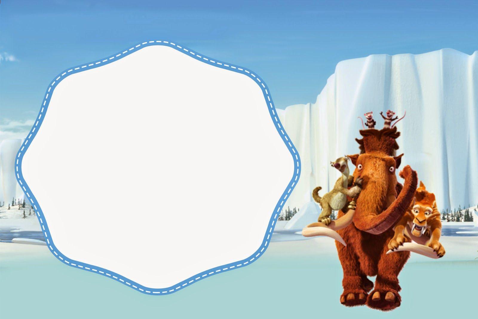 Ice Age: Invitaciones o Tarjetas para Imprimir Gratis. | candy bar ...