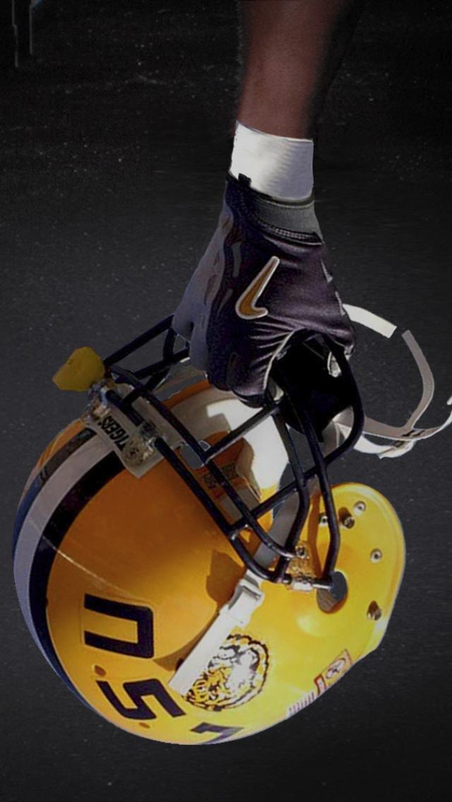 Lsu Football Helmet Iphone 5 Wallpaper 640x1136 Lsu Football Football Helmets Lsu