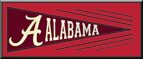 Alabama Throwback Pennant Wool Blend Fabric With Team Color Double Matting-Framed Awesome & Beautiful Art and More, Davenport, IA http://www.amazon.com/dp/B00LY286CM/ref=cm_sw_r_pi_dp_AnmCub0VZGWST