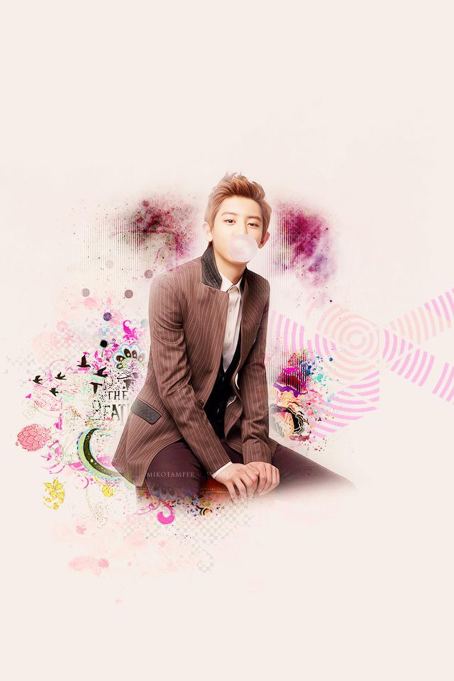 Update Wallpaper Flower Boy Chanyeol iPhone Wallpaper