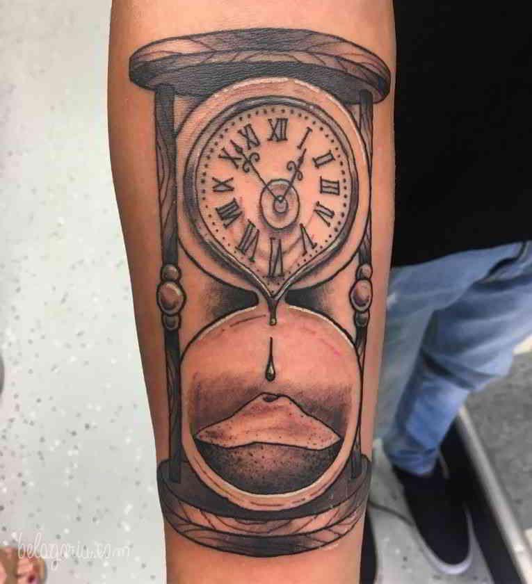 La Web De Los Tatuajes Tatuajes De Relojes Reloj De Arena