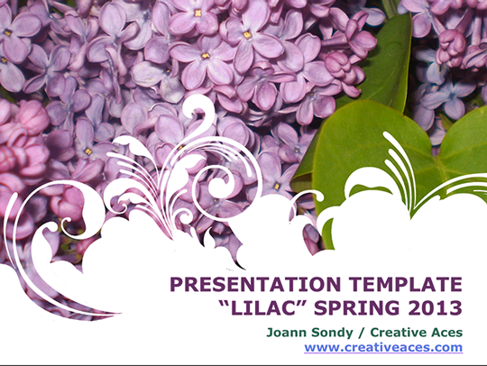 lilacs are blooming! free ppt template | presentation templates, Modern powerpoint