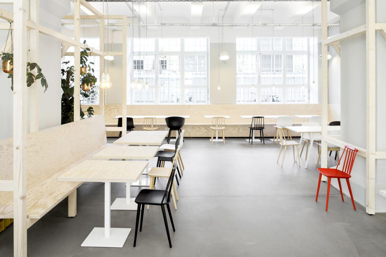 zalando berlin industrial industriel canteen kantine factory restaurant staff. Black Bedroom Furniture Sets. Home Design Ideas
