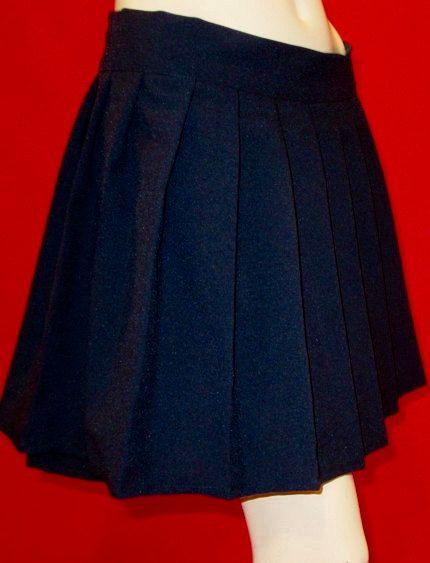 Navy Blue Pleated Skirt~School Girl Pleated Skirt~School Uniform ...