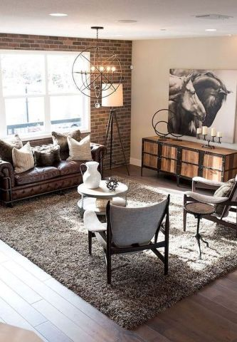 50 Awesome Industrial Farmhouse Design Ideas to Complement Your Home In 2019 - Googodecor #industrialfarmhouselivingroom