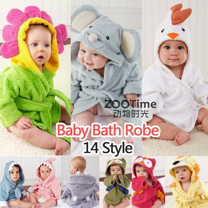 Retail-14 Designs Hooded Animal modeling Baby Bathrobe Cartoon Baby Towel Character  kids bath robe infant bath towels 9ce3fc70b