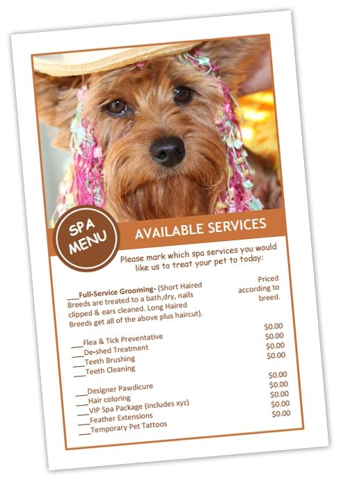 Dog Grooming Price List Templates Bundle 16 Pet Grooming Business Pet Grooming Dog Grooming