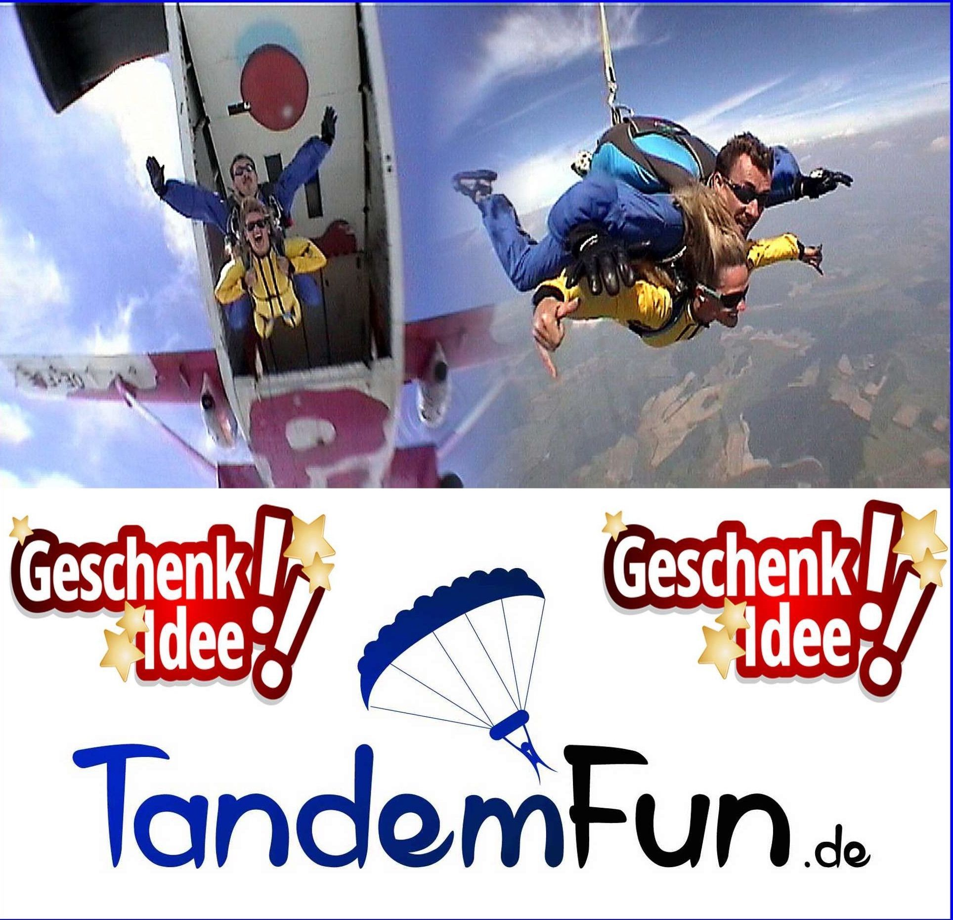 Gutschein Tandemsprung Geschenk Fallschirmspringen Bayern