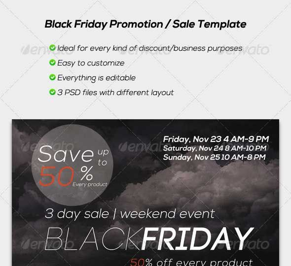 35 Best Black Friday PSD Flyer Templates - Designsave Free - black flyer template