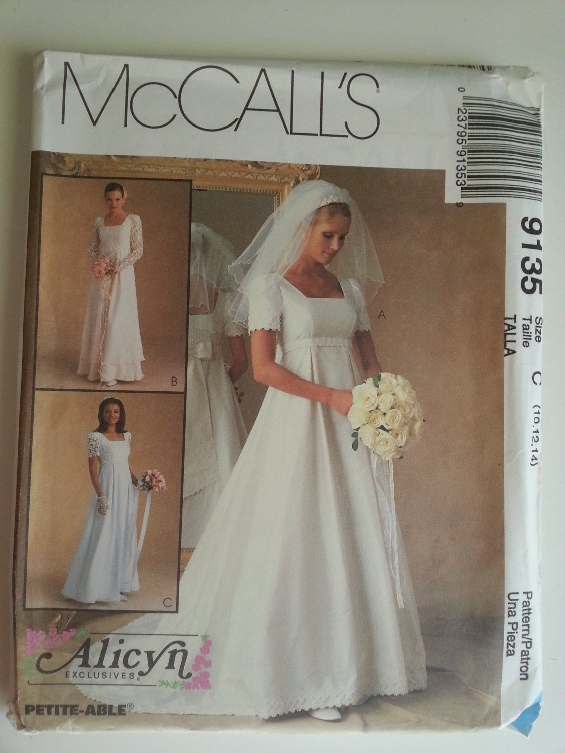 90s wedding dress sewing pattern vintage empire square